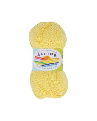 """Пряжа ALPINA """"HOLLY"""" (100% мерсеризованный хлопок) 10х50г/200м цв.500 желтый арт. МГ-62336-1-МГ0685962"""