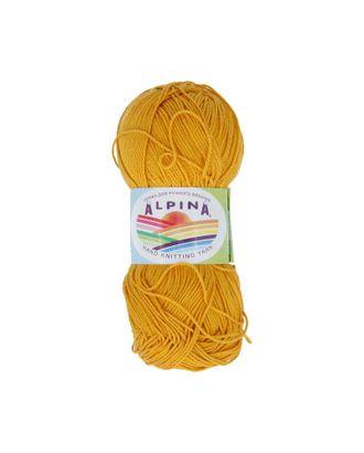 """Пряжа ALPINA """"SATI"""" (100% мерсеризованный хлопок) 10х50г/170м цв.338 желто-оранжевый арт. МГ-62414-1-МГ0686050"""