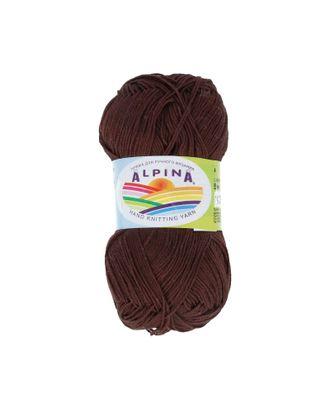 "Пряжа ALPINA ""XENIA"" (100% мерсеризованный хлопок) 10х50г/240м цв.838 т.коричневый арт. МГ-62437-1-МГ0686075"