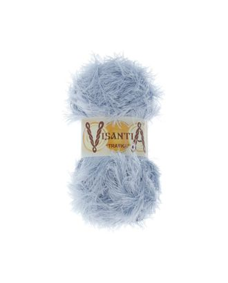 """Пряжа VISANTIA """"TRAFKA"""" (100% полиэстер) 5х100г/150 м цв.0095 св.серый арт. МГ-62771-1-МГ0689787"""