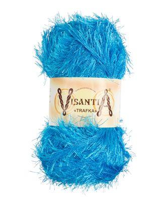 """Пряжа VISANTIA """"TRAFKA"""" (100% полиэстер) 5х100г/150 м цв.0003 яр.голубой арт. МГ-62773-1-МГ0689789"""