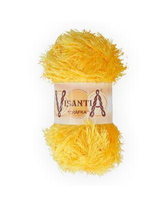 """Пряжа VISANTIA """"TRAFKA"""" (100% полиэстер) 5х100г/150 м цв.0075 т.желтый арт. МГ-62781-1-МГ0689798"""