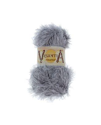 """Пряжа VISANTIA """"TRAFKA"""" (100% полиэстер) 5х100г/150 м цв.0006 св.серый арт. МГ-62797-1-МГ0689814"""