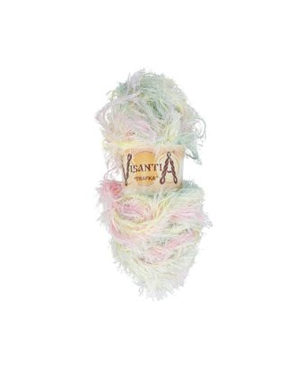 "Пряжа VISANTIA ""TRAFKA"" меланжевая (100% полиэстер) 5х100г/150 м цв.1040 св.зеленый/желтый/розовый арт. МГ-62811-1-МГ0689828"