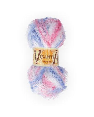 "Пряжа VISANTIA ""TRAFKA"" меланжевая (100% полиэстер) 5х100г/150 м цв.1050 голубой/розовый арт. МГ-62818-1-МГ0689835"