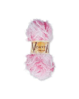 "Пряжа VISANTIA ""TRAFKA"" меланжевая (100% полиэстер) 5х100г/150 м цв.5516 бело-розовый арт. МГ-62819-1-МГ0689836"