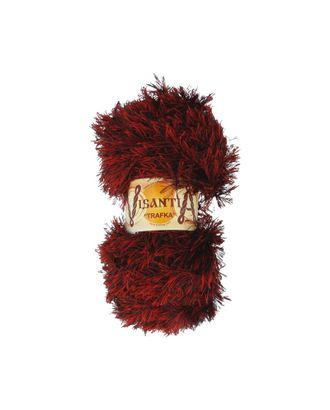 "Пряжа VISANTIA ""TRAFKA"" меланжевая цв.2 (100% полиэстер) 5х100г/100м цв.4001 т.красный-черный арт. МГ-62826-1-МГ0689843"
