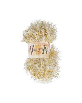 """Пряжа VISANTIA """"TRAFKA SALUT"""" (80% полиэстер, 20% люрекс) 5х200г/90м цв.0054 белый с люрексом под золото арт. МГ-62866-1-МГ0689890"""