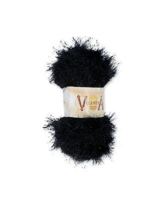 "Пряжа VISANTIA ""TRAFKA SALUT"" (80% полиэстер, 20% люрекс) 5х200г/90м цв.0078 черный арт. МГ-62868-1-МГ0689893"