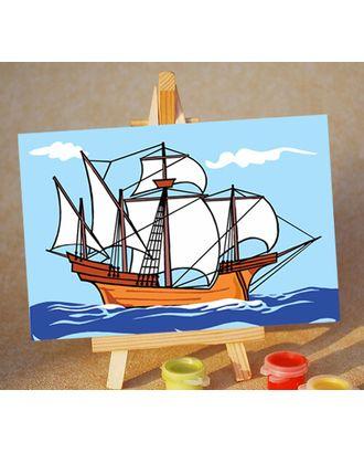 Раскраски по номерам Кораблик PA182 10х15 тм Цветной арт. МГ-63255-1-МГ0710000