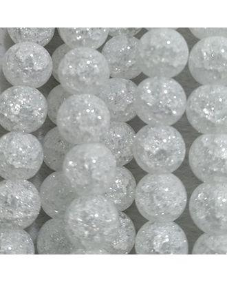 Бусины Сахарный кварц круглые 8мм цв.белый отверстие 1мм, около 45шт/нить арт. МГ-77137-1-МГ0715248