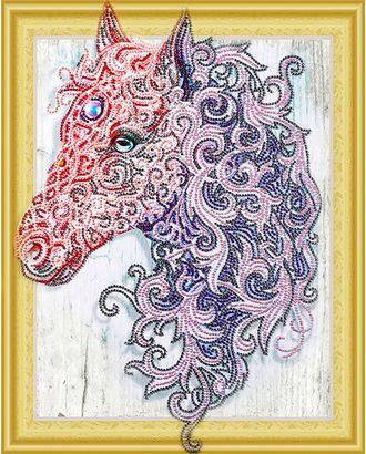 """Набор """"Колор Кит"""" к алмазная с фигурными стразами Аметистовая лошадь 40х50 арт. МГ-10692-1-МГ0716111"""