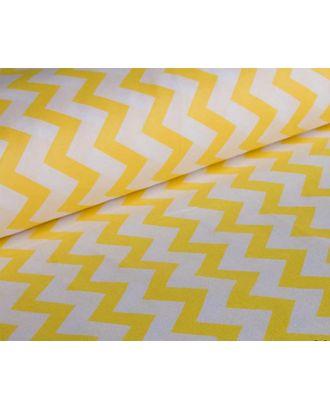 Ткань хлопок ЗигЗаг-1692, 125г/м², 100% хлопок, цв.08 желтый уп.50х50см арт. МГ-10711-1-МГ0716235