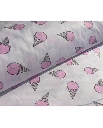 Ткань хлопок Мороженое-1812, 125г/м², 100% хлопок, цв.02 розовый уп.50х50см арт. МГ-10716-1-МГ0716241
