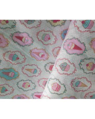 Ткань хлопок Пирожное-1795, 125г/м², 100% хлопок, цв.01 розовый уп.50х50см арт. МГ-10720-1-МГ0716245