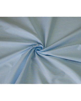 Ткань хлопок Полоска-1663, 125г/м², 100% хлопок, цв.03 голубой уп.50х50см арт. МГ-10721-1-МГ0716246