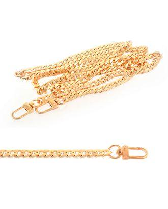 Цепочка для сумки с карабинами металл 107932 1200мм 7,5 мм цв.золото уп.1шт арт. МГ-63954-1-МГ0716250