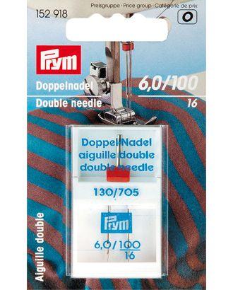 Иглы PRYM Twin №100/16 с плоской колбой, д/двойных строчек, 6мм, д/трикотажных полотен арт. МГ-63996-1-МГ0716502