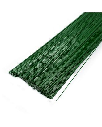 Проволока герберная 0.7 мм, уп.1 кг,  цв.зеленый арт. МГ-64018-1-МГ0716669