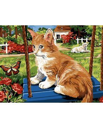 К по номерам Рыжий котик на качелях EX5278 30х40 тм Цветной арт. МГ-64027-1-МГ0716680