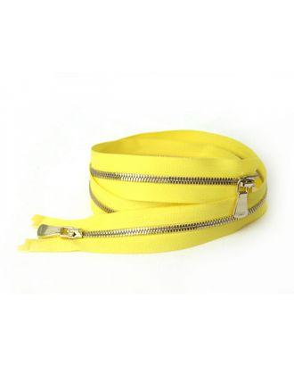 Молния металл №2 Premium светлое золото два замка 60см цв.D504 желтый сатин арт. МГ-64051-1-МГ0716885