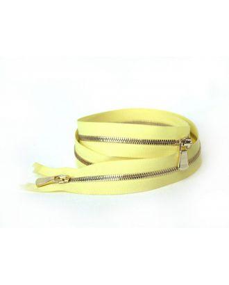 Молния металл №2 Premium светлое золото два замка 60см цв.D802 светлый желтый сатин арт. МГ-64056-1-МГ0716890