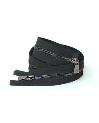 Молния металл №2 Premium черный никель два замка 70см цв.D580 черный сатин арт. МГ-64066-1-МГ0716906