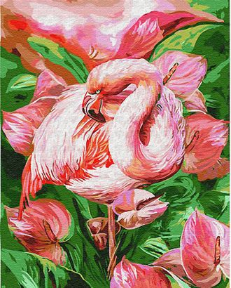 К по номерам Розовый фламинго GX23743 40х50 тм Цветной арт. МГ-64191-1-МГ0717177