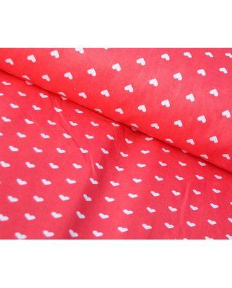 Ткань хлопок Сердечки-1746, 125г/м², 100% хлопок, цв.20 красный уп.50х50см арт. МГ-10807-1-МГ0717189