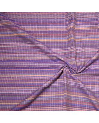 Ткань лен Полоска, 145г/м, 50%лен+50%хлопок, цв.лаванда уп.50х50см арт. МГ-10929-1-МГ0718268