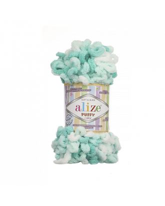 Пряжа для вязания Ализе Puffy color (100% микрополиэстер) 5х100г/9м цв.5920 арт. МГ-80916-1-МГ0718699