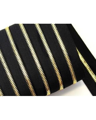 Молния рулонная металл №5СТ золото цв.D580 черный уп.5м арт. МГ-64384-1-МГ0719448