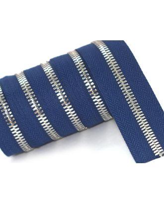 Молния рулонная металл №5СТ никель цв.D040 т.синий уп.5м арт. МГ-64385-1-МГ0719449