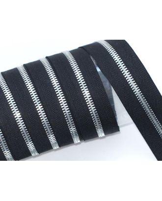 Молния рулонная металл №5СТ никель цв.D580 черный уп.5м арт. МГ-64389-1-МГ0719454