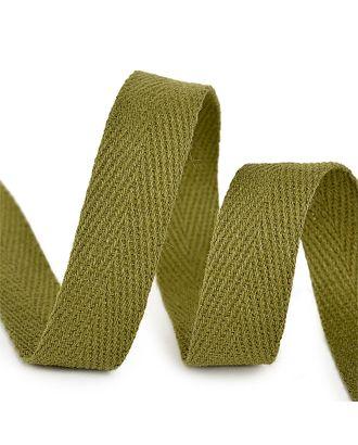 Тесьма киперная 15 мм хлопок 2,5г/см цв.F264 зеленый уп.50м арт. МГ-10997-1-МГ0719804