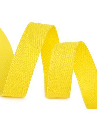 Тесьма киперная 15 мм хлопок 2,5г/см цв.F110 желтый уп.50м арт. МГ-10998-1-МГ0719806