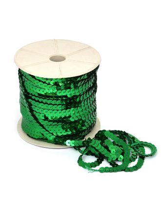 Пайетки плоские на нитях ш.0,6см цв.04 зеленый арт. МГ-11009-1-МГ0720832