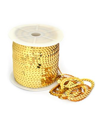 Пайетки плоские на нитях ш.0,6см цв.06 св.золото арт. МГ-11011-1-МГ0720834