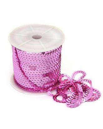 Пайетки плоские на нитях ш.0,6см цв.09 розовый арт. МГ-11013-1-МГ0720836