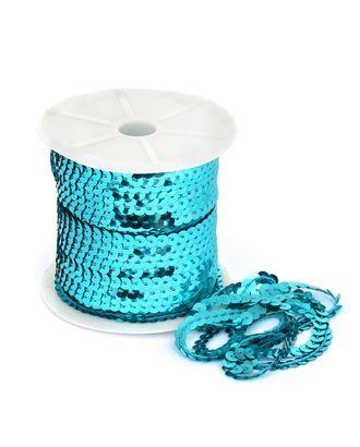 Пайетки плоские на нитях ш.0,6см цв.11 голубой арт. МГ-11016-1-МГ0720839