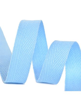 Тесьма киперная 15 мм хлопок 2,5г/см цв.S351 голубой уп.50м арт. МГ-11032-1-МГ0721120