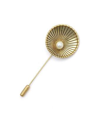Булавка шляпная металл с жемчужиной цв.золото арт. МГ-77291-1-МГ0722845