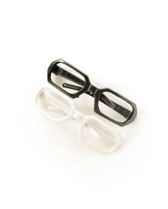 Очки без стекла д.7,5см, пластик прямоугольные цв.ассорти арт. МГ-11147-1-МГ0723397