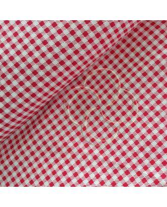Ткань хлопок Клетка-1701, 125г/м², 100% хлопок, цв.20 красный уп.50х50см арт. МГ-11159-1-МГ0723856