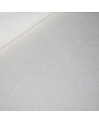 Ткань лен отбеленный, 140г/м², 30% лен + 70% хлопок, цв.белый уп.50х50см арт. МГ-80991-1-МГ0735485