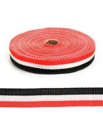 Стропа-30 рис.8561 цв.черный-белый-красный арт. МГ-81133-1-МГ0738186