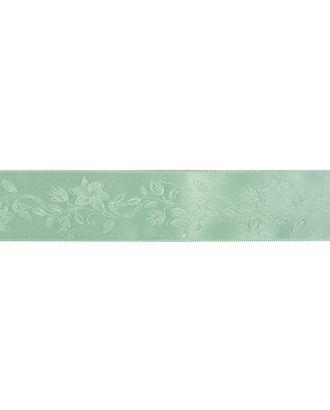 Лента (тесьма) жаккардовая ш.3,8см цв.зеленый арт. МГ-81180-1-МГ0738532