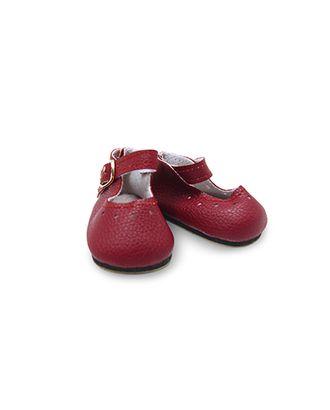Туфли для куклы с пряжкой 65х30мм цв.т.красный 1 пара арт. МГ-13699-1-МГ0738913