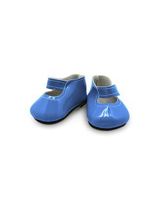 Туфли лакированные для кукол КЛ.28338 твердая подошва 6,5х2,5см, цв.св.синий 1 пара арт. МГ-13701-1-МГ0738915