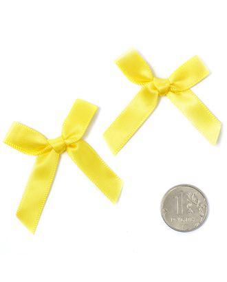 Бантики пришивные 3,5см цв.11 желтый уп.100шт арт. МГ-77477-1-МГ0739147